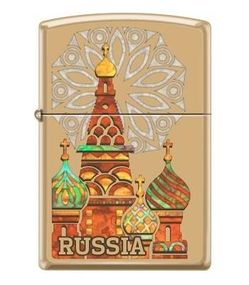 Зажигалка Zippo 254B Россия High Polish Brass
