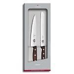 Набор ножей Victorinox 5.1020.21G (набор 2 кухонных ножей, разделочный, для хлеба, рукоять Rosewood)