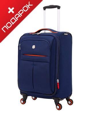 Чемодан Wenger WG6593307154 AROSA, синий, полиэстер,48,3 x 18 x 34,4 см, 30 л