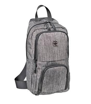 Рюкзак Wenger 605029 с одним плечевым ремнем, темно-cерый  19x12x33см, 8 л