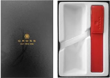 Набор Cross : Подарочная коробка и Кожаный футляр для одной ручки красный GWP47-2