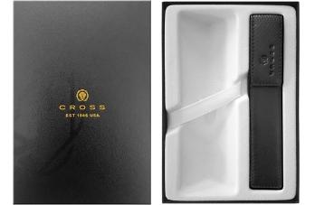 Набор Cross GWP47-1 Подарочная коробка и Кожаный футляр для одной ручки чёрный