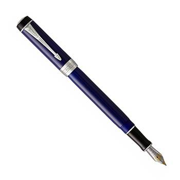 Перьевая ручка Parker Duofold F74 International Blue/Black CT (1947985)