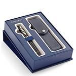 Набор Waterman Expert 2019844 Перьевая ручка Black Laque GT + чехол