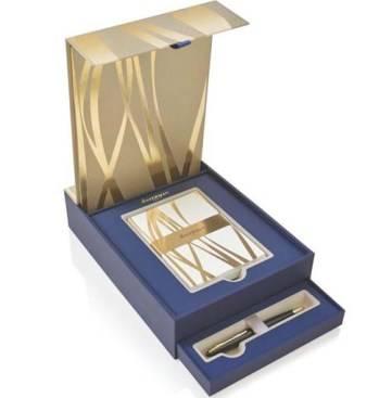 Набор подарочный Waterman 1937585 Шариковая ручка Carene Black GT+ набор открыток и конвертов