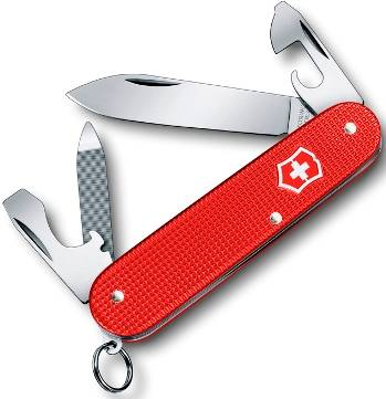 Нож Victorinox 0.2601.L18 Cadet Alox офицерский, 84мм, красный