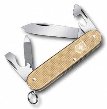 Нож Victorinox 0.2601.L19 Cadet Alox офицерский, 84мм, золотистый
