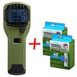 НАБОР: отпугиватель комаров ThermaCELL (оливков.) MR 300G и  две запаски MR 400-12 (каждая по 48 ч)