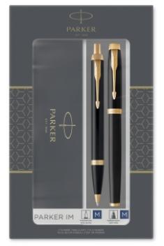 Набор Parker IM Core Black GT - ручки перьевая и шариковая 2093216