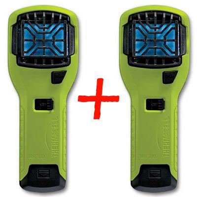 Два отпугивателя комаров ThermaCELL (лайм) MR-300 High Visibility Green Repeller(+расходка 12ч)