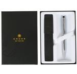 Набор Cross Century II Lustrous Chrome 3502WG/471 Шариковая ручка и кожаный чехол