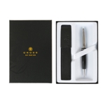 Набор Шариковая ручка Cross Calais Black и кожаный чехол (AT0112-2/471)