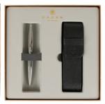Набор Шариковая ручка Cross Calais Chrome и чехол из искусств кожи на 2 ручки (AT0112-1/287)