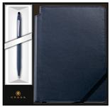 Набор : Шариковая ручка Cross Click Midnight Blue + записная книжка AT0622-121/2M