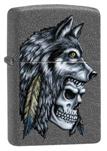 Зажигалка Zippo 29863 Wolf Skull Feather Design ZIPPO
