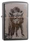 Зажигалка Zippo 49073 Wolf Design Black Ice®