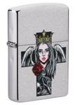 Зажигалка Zippo 49262 Cross, Queen and Skull Design