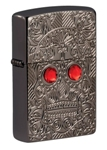 Зажигалка Zippo 49300 Armor™ Crystal Skull Design с покрытием High Polish Black Ice®
