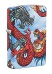 Зажигалка Zippo 49354 Dragon Design с покрытием White Matte