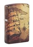 Зажигалка Zippo 49355 Pirate Ship Design с покрытием White Matte