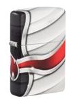 Зажигалка Zippo 49357 Flame Design с покрытием White Matte