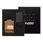 Подарочный набор 49401 зажигалка Black Crackle® и коричневый нейлоновый чехол