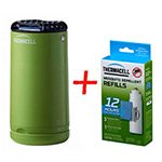 Набор: отпугиватель комаров ThermaCELL Halo Mini Repeller Green  + запаска на 12ч