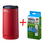 Набор: отпугиватель комаров ThermaCELL Halo Mini Repeller Red + запаска на 12ч