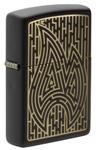 Зажигалка Zippo 49597 Zippo Maze c покрытием Black Matte