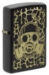 Зажигалка Zippo 49574 Skull Gas Mask c покрытием Black Matte