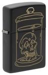 Зажигалка Zippo 49575 Skull Design c покрытием Black Matte