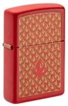Зажигалка Zippo 49573 Flame Pattern ZIPPO с покрытием Red Matte