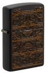 Зажигалка Zippo 49572 Circuit Pattern с покрытием Black Matte