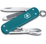 "Нож-брелок Victorinox 0.6221.242G Classic SD Alox Colors ""Wild Jungle"", 58мм, бирюзовый"