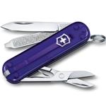 """Нож-брелок Victorinox 0.6223.T29G Classic SD Colors """"Persian Indig"""", 58мм, полупрозрачный фиолетовый"""