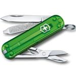 "Нож-брелок Victorinox 0.6223.T41G Classic SD Colors ""Green Tea"", 58мм, полупрозрачный зелёный"