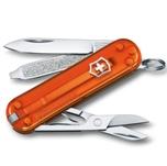 "Нож-брелок Victorinox 0.6223.T82G Classic SD Colors ""Fire Opal"", 58мм, полупрозрачный оранжевый"
