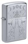 Зажигалка Zippo 49591 Butterfly and Wolf с покрытием Satin Chrome