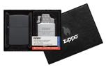 Подарочный набор Zippo 218-090204 зажигалка 218 Black Matte и газовый вставной блок с двойн пламенем