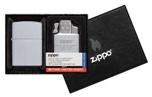 Подарочный набор Zippo 205-090201 зажигалка 205 Satin Chrom и газовый вставной блок с двойн пламенем