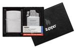 Подарочный набор Zippo 200-082950 зажигалка 200 Brushed Chrom и газовый вставн блок с двойн пламенем